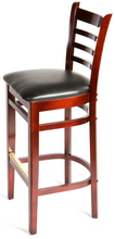 Load image into Gallery viewer, Mahogany Ladderback Wood Barstool