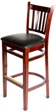 Load image into Gallery viewer, Mahogany Verticalback Wood Barstool