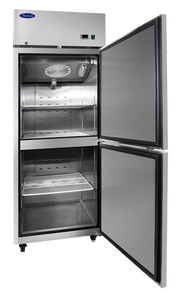 Two Divided Door Refrigerator | Top Mount | Atosa | MBF8010GR