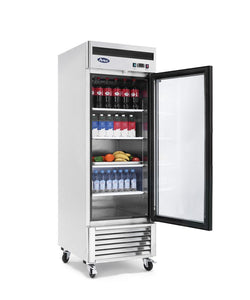 One Glass Door Refrigerator | Bottom Mount | Atosa | MCF8705