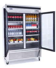 Load image into Gallery viewer, Two Glass Door Refrigerator | Bottom Mount | Atosa | MCF8707