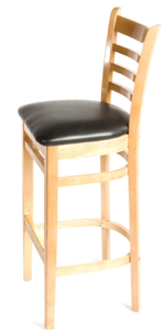 Natural Ladderback Wood Barstool