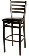 Load image into Gallery viewer, Premium Ladderback Metal Frame Barstool