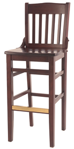 Schoolhouse Wood Barstool