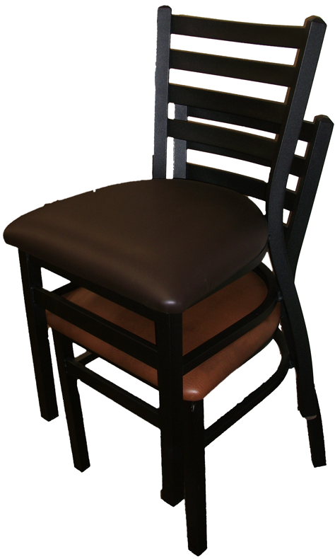 Black Powder Stackable Ladderback