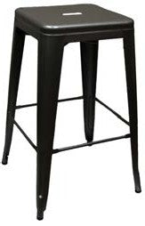 Stackable XL Painted Backless Barstool
