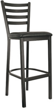 Load image into Gallery viewer, Standard Ladderback Metal Frame Barstool