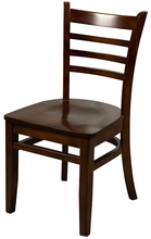 Load image into Gallery viewer, Walnut Ladderback Dining Chair