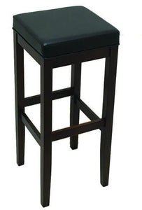 Walnut Square Frame Wood Barstool