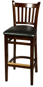 Walnut Verticalback Wood Barstool