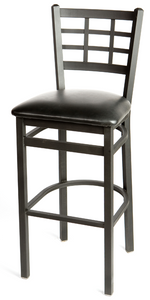 Windowpane Metal Frame Barstool
