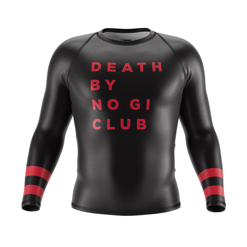 Death By No Gi Club Rash Guard (Long Sleeve)