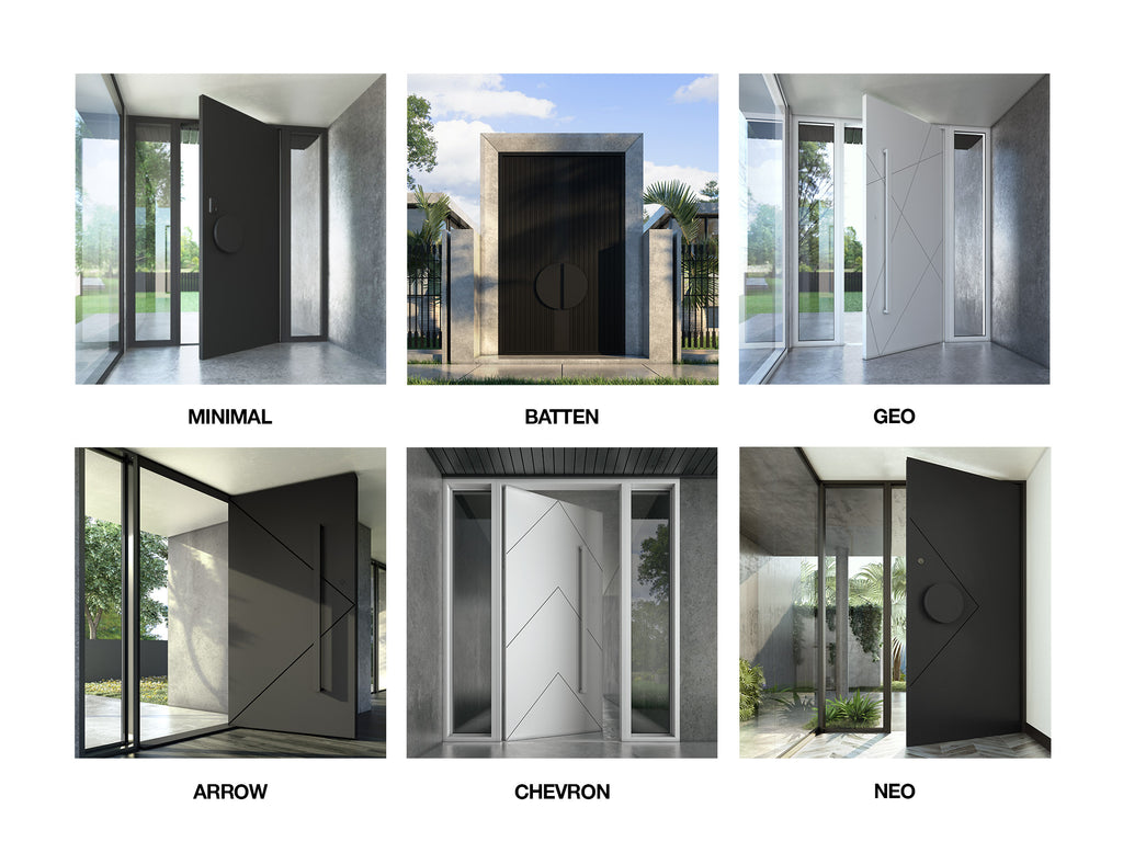 Zen Doors Modern Iron Entry Pivot Hinge Doors Steel Glass Doors
