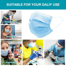 Load image into Gallery viewer, 50Pcs Disposable Filter Mask 3 Ply Earloop Face Masks