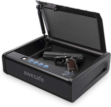 Load image into Gallery viewer, awesafe Gun Safe with Fingerprint Identification and Biometric Lock One Handgun Capacity