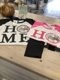 "Quad City ""Home"" baseball T's in pink or black"
