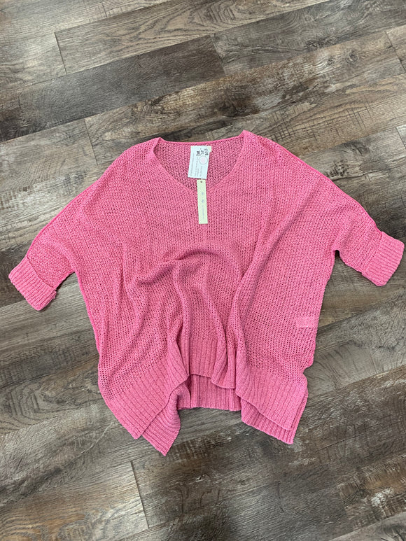 Pink one size top
