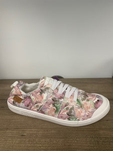 Blowfish flower print canvas tennis shoes