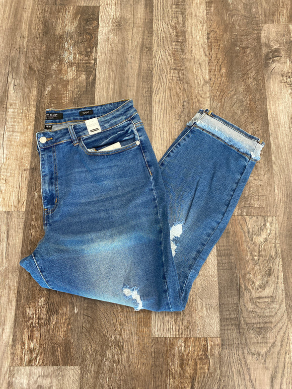 Judy Blue Curvy high waisted crop jeans