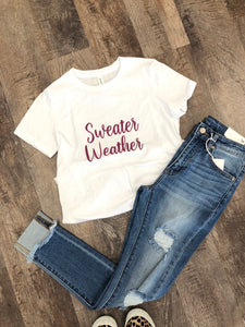 Sweater weather graphic tee