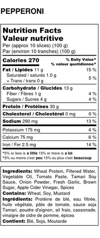 Vegan Pepperoni Nutritional Facts