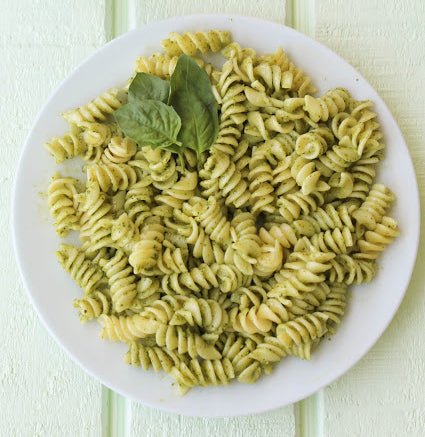 Naked Almond Butter Pesto Pasta