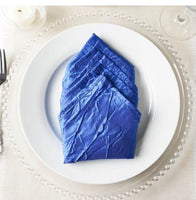 Blue Taffeta Fabric Napkins