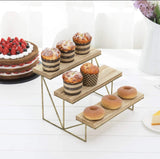 3-Tier Wood And Metal Display