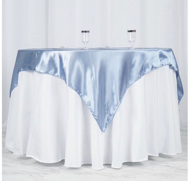 Satin Square Table Overlay
