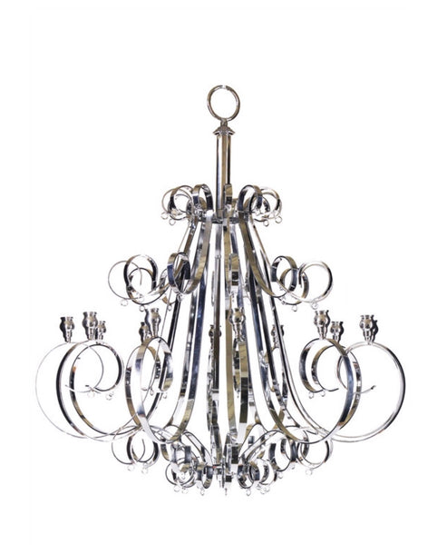 Silver 12 Arm Candle Chandelier