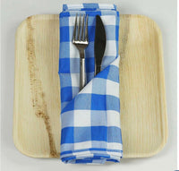 Checkered Linen Napkins Red/Blue