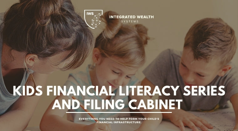 Kids Financial Literacy Series and Filing Cabinet