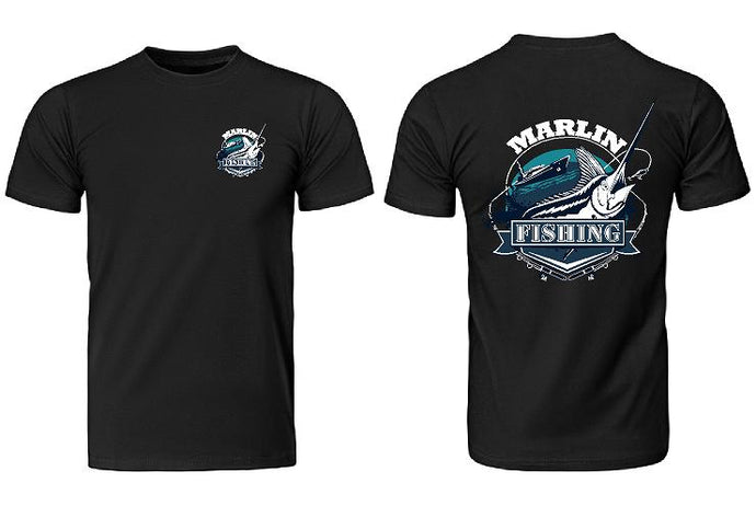 Marlin Fishing T-Shirt Mens