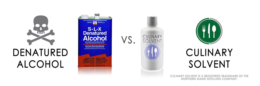 Denatured alcohol vs Culinary Solvent food grade ethanol