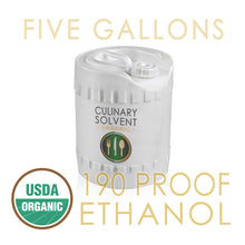 Load image into Gallery viewer, 5 Gallons Organic 190 Proof Food Grade Ethanol