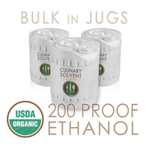 Bulk 200 Proof Organic Ethanol packed in 5 Gallon Jugs Food Grade Ethanol