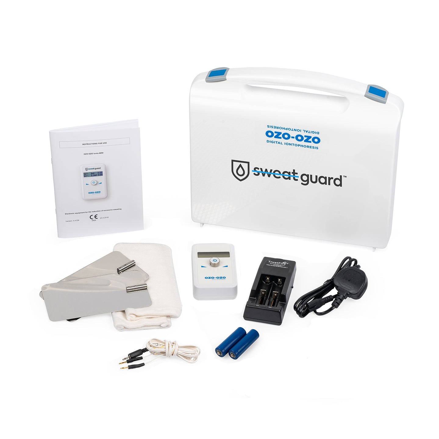 iontophoresis machine and kit  for  armpits  - Kit components.