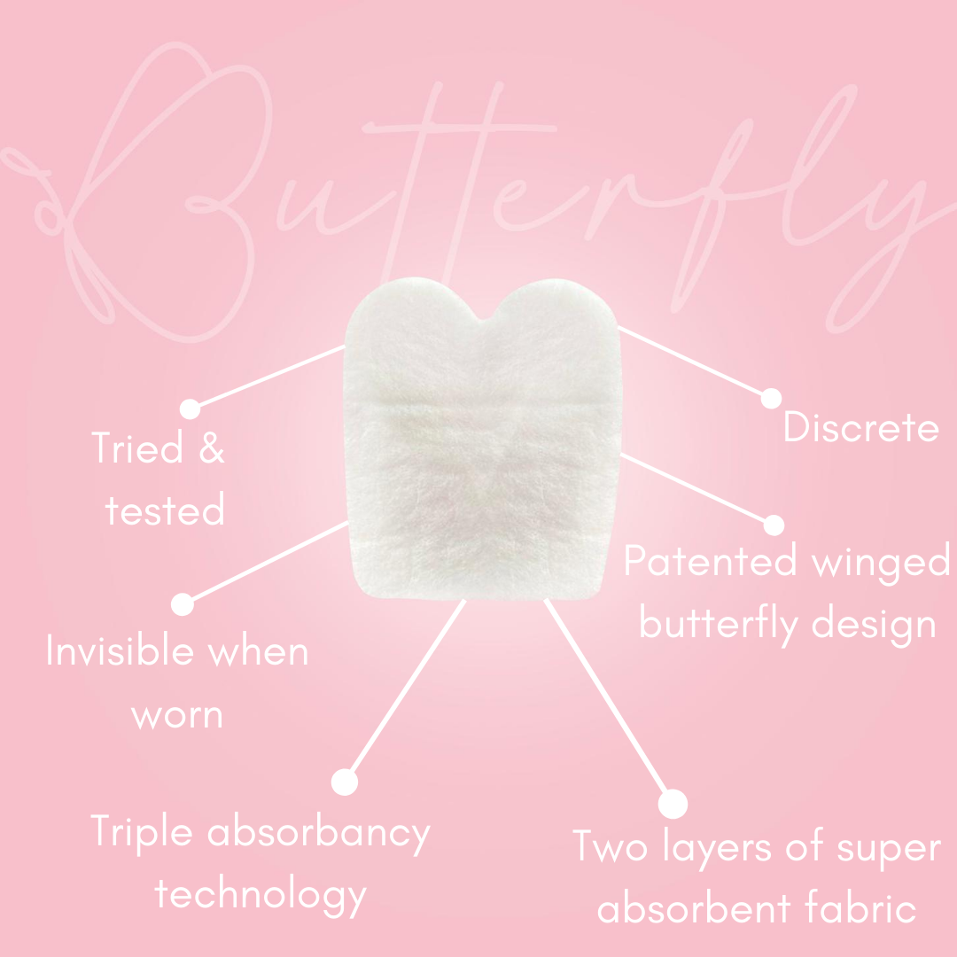 NEW Butterfly Breast Sweat Pads - 30