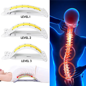Chiropractor Massager Pain Relieve Back Magic Massager Stretcher Stretching Magic Lumbar Waist Back Support Neck Relax Device