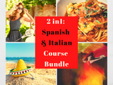 2 in 1: Spanish & Italian for Beginners Course Bundle!