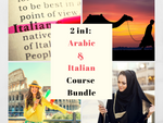 Arabic & Italian Course Bundle: Arabic for Beginners & Italian for Beginners!