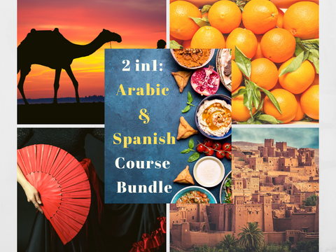 2 in 1 Arabic & Spanish for Beginners Course Bundle