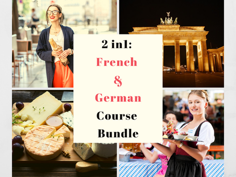 2 in 1: French & German for Beginners Course Bundle