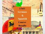 2 in 1 German & Spanish for Beginners Course Bundle