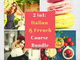 2 in 1 Italian & French for Beginners Course Bundle