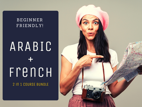 2 in 1 Arabic & French for Beginners Course Bundle