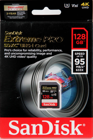 Sandisk 128GB SD Extreme Pro