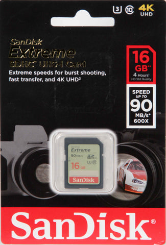 Sandisk 16Gb SD Extreme