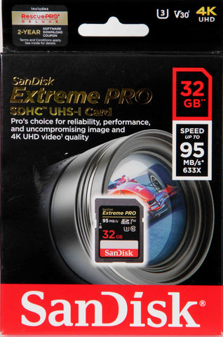 Sandisk 32Gb SD Extreme Pro