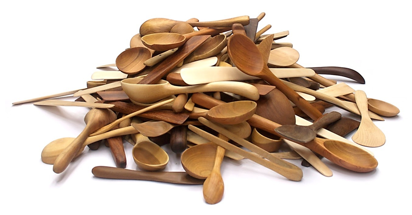 Elegant handcrafted wooden cooking tools